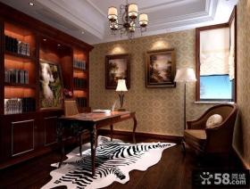 新中式风格装修案例书房图片