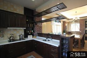 美式复古风格厨房家装图片