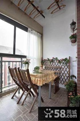 家装餐厅阳台装修效果图