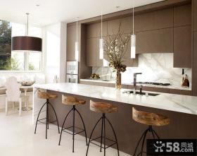 白色现代简约风格厨房整体橱柜效果图