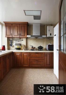 美式风格厨房图欣赏大全