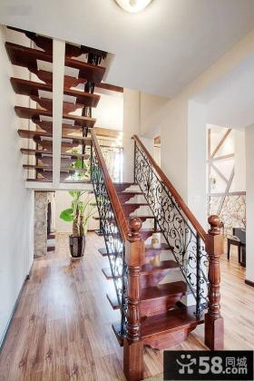 美式铁艺楼梯设计图