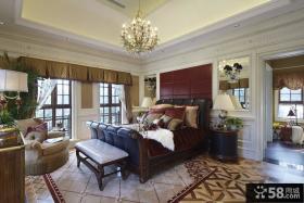 奢华浪漫的美式风格卧室装修样板间