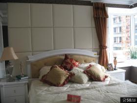 欧式风格卧室软包背景墙装饰效果图片
