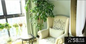 室内阳台单人休闲沙发图片