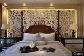 美式卧室床头灯具效果图大全