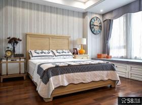 美式装修设计卧室飘窗欣赏