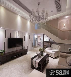 现代简约设计客厅电视背景墙图片欣赏