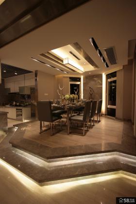 别墅豪华装修室内餐厅设计
