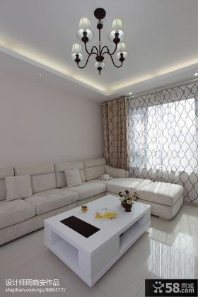现代风格客厅吊灯效果图