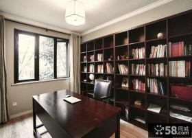 美式风格设计8平米书房效果图大全