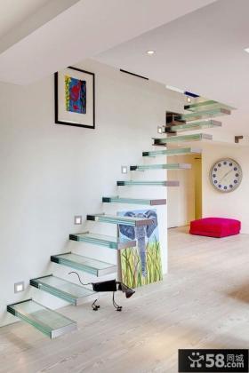 玻璃室内楼梯设计图