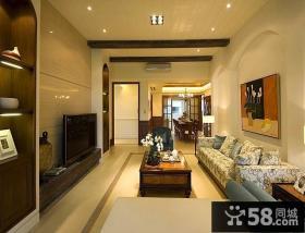 整体客厅瓷砖电视背景墙装修效果图