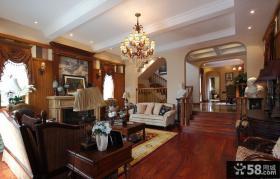 欧式古典客厅水晶灯图片