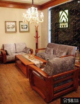 中式小户型客厅吊顶灯效果图