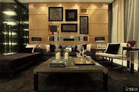 后现代主义风格客厅沙发背景墙效果图