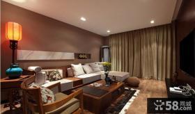 简约中式客厅组合沙发效果图片