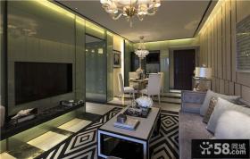 现代新古典家装客厅电视背景墙装修图片