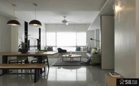 简约家居90平米两室一厅室内设计效果图大全2014