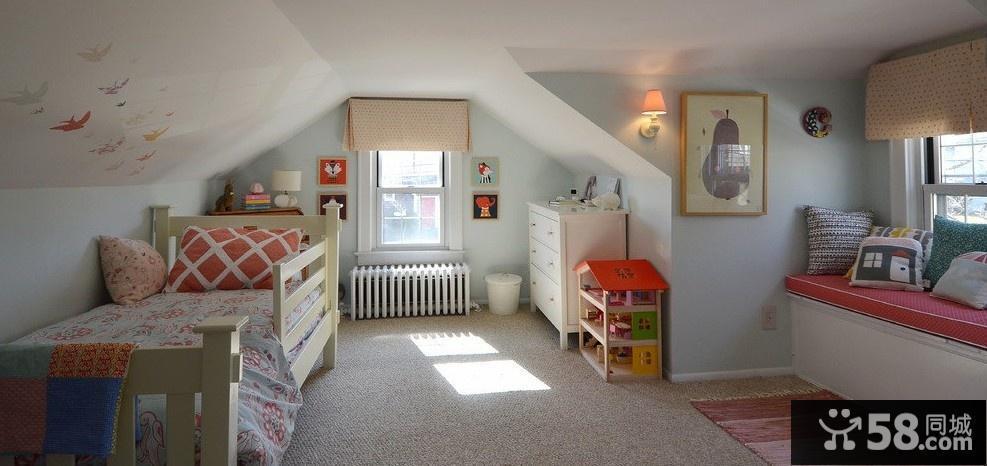 斜顶阁楼小卧室装修效果图片大全