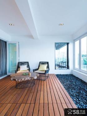 时尚日式大阳台三居室装修效果图