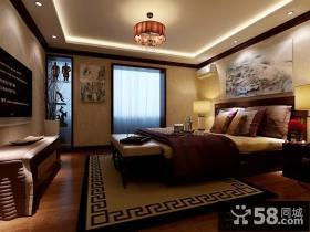 中式古典风格卧室装修设计效果图