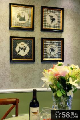 美式乡村风格相片墙装饰效果图