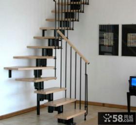 2015美式家装设计楼梯效果图