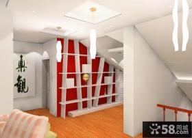 现代风格阁楼楼梯装修效果图