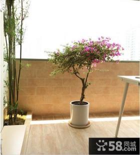 露天小阳台家庭园艺装修设计效果图