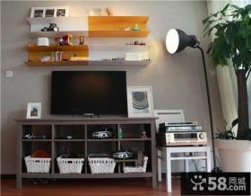 现代风格室内电视背景墙图