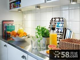 小户型厨房橱柜大理石台面效果图