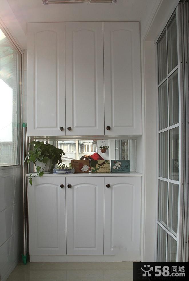 简约风格阳台衣柜装修设计效果图图片