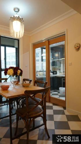 混搭两居室家庭厨房餐厅装修图片