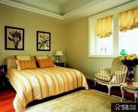 欧式风格卧室床头背景墙装饰画图片
