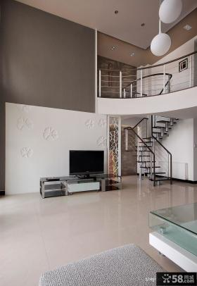 复式楼梯装修效果图 小复式楼装修效果图