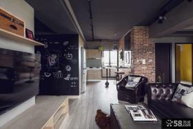 美式创意风格客厅电视背景墙效果图大全