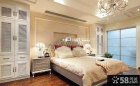 欧式风格主卧室床头柜图片