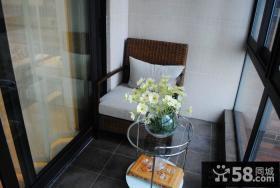 小面积客厅阳台装修效果图