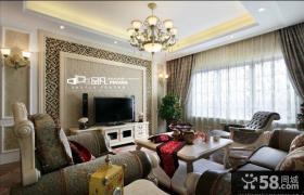欧式客厅瓷砖电视背景墙效果图大全