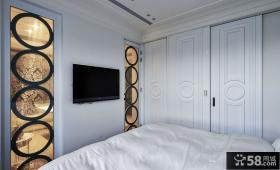 简欧家装室内卧室电视背景墙图片大全