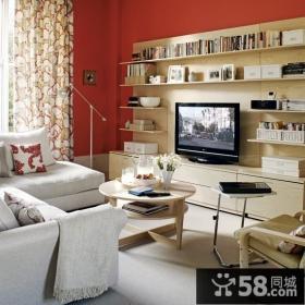 小户型客厅电视背景墙装修效果图大全2013图片