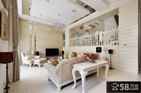 简约欧式复式楼客厅装修效果图欣赏