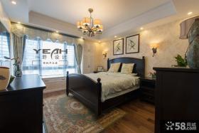 美式风格15平米主人卧室装修图片