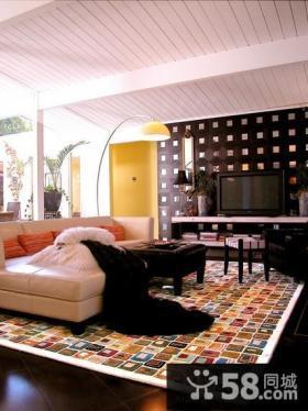 北欧小户型家庭客厅装修效果图大全2014图片
