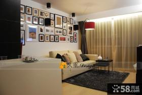 客厅照片墙装饰效果图片