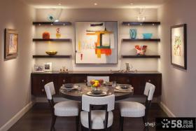 现代简约小餐厅装修效果图大全2013图片