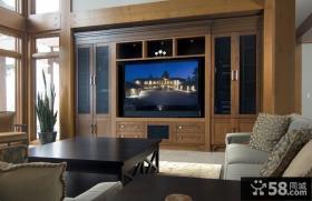 美式风格电视背景墙