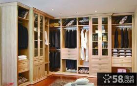 美式现代风格转角衣柜设计图