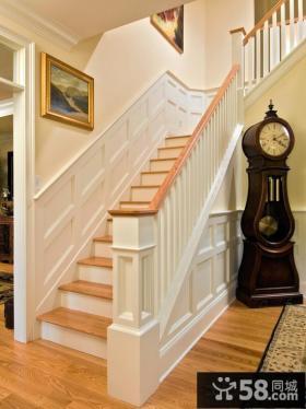 欧式墙裙楼梯效果图片